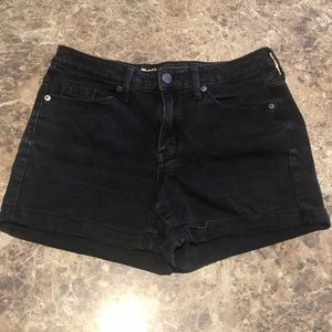 MOSSIMO High rise black jean shorts.